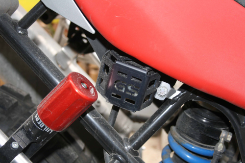 Rear Brake Reservoir Guard - GS Logo - Black