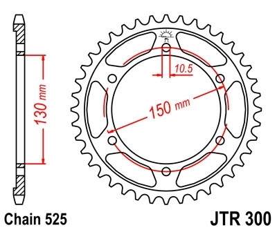JT Rear Sprocket 48 Teeth for Africa Twin RD03