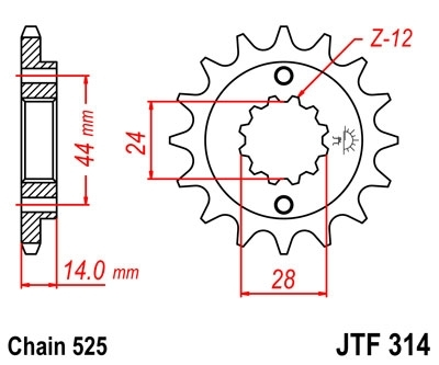 JT Front Sprocket 15 Teeth for Africa Twin RD04/07/07A