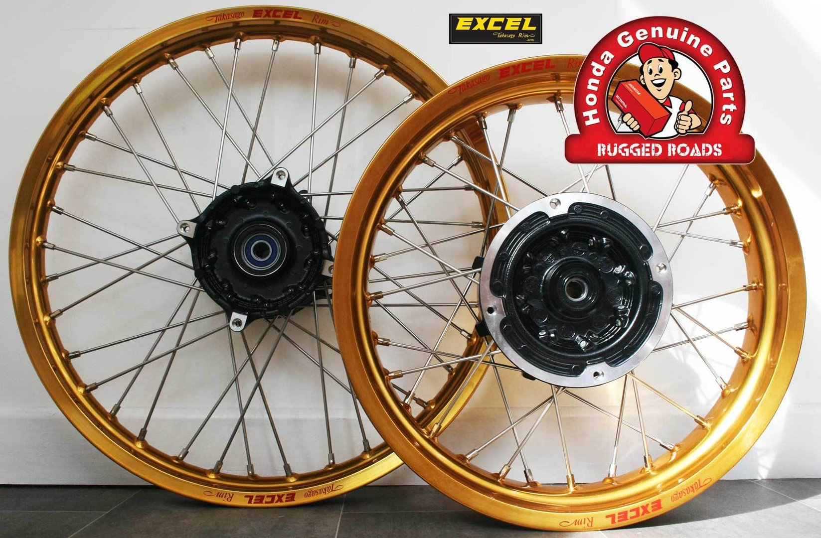 Wheelset - Front and Rear Wheels Complete GOLD - RD04/07/07A (1990-03)