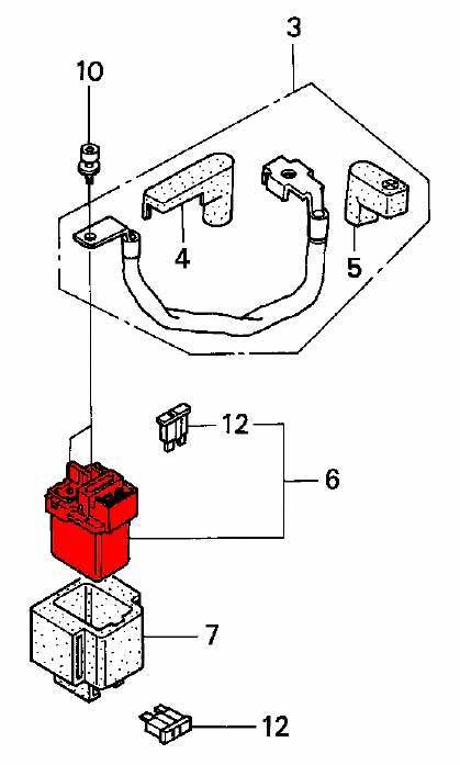 starter solenoid - rd07  07a  1993-03