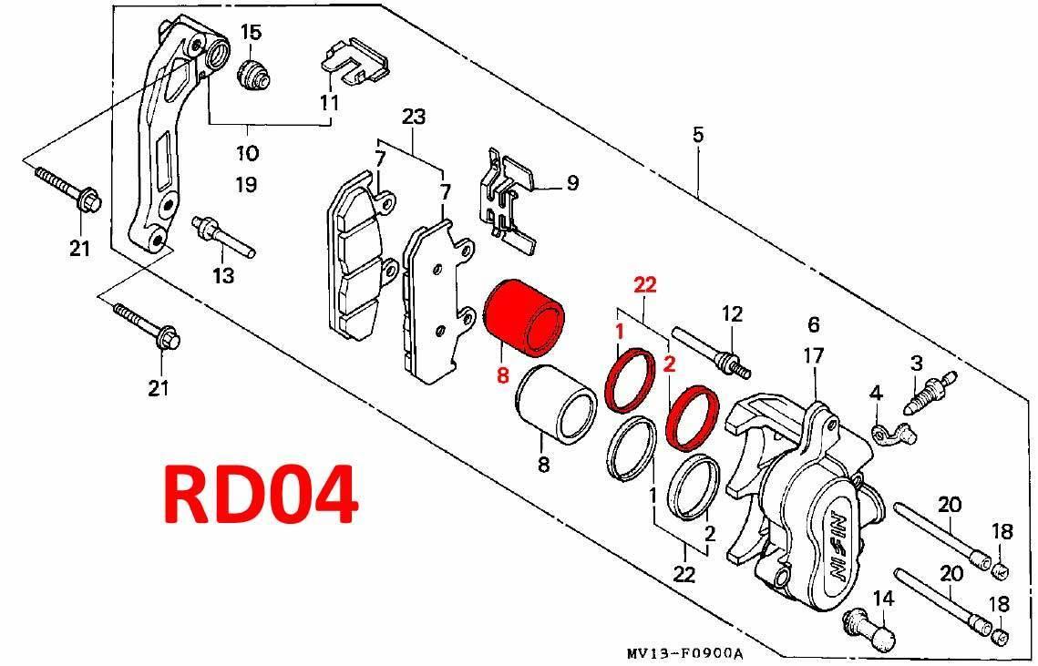 brake caliper front piston  u0026 seal kit