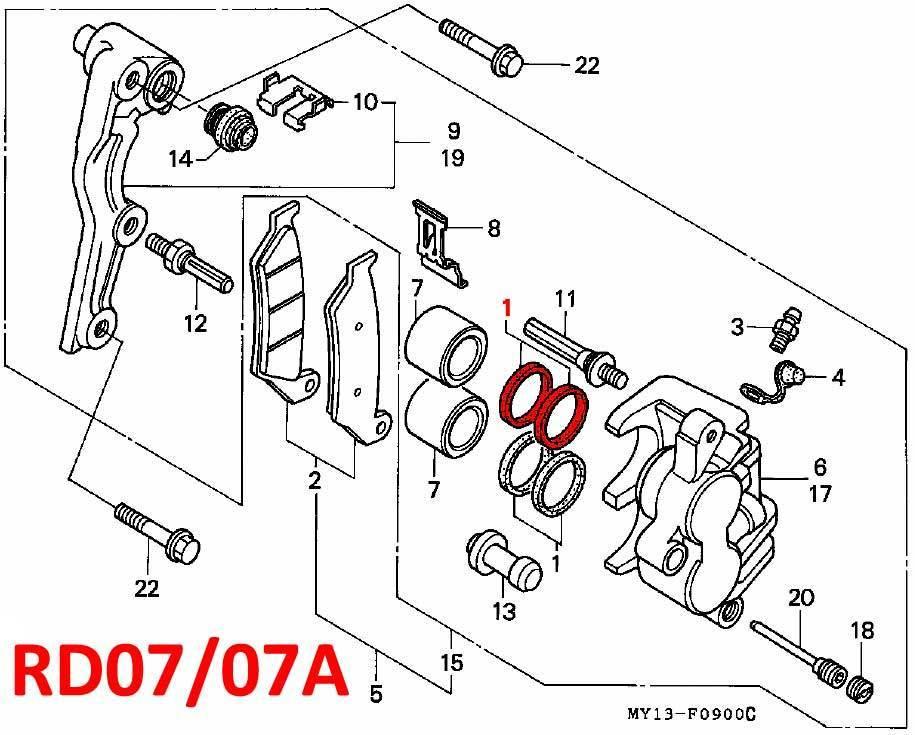 Brake Caliper Front Piston Seal Kit Rd04 07 07a 1990 03