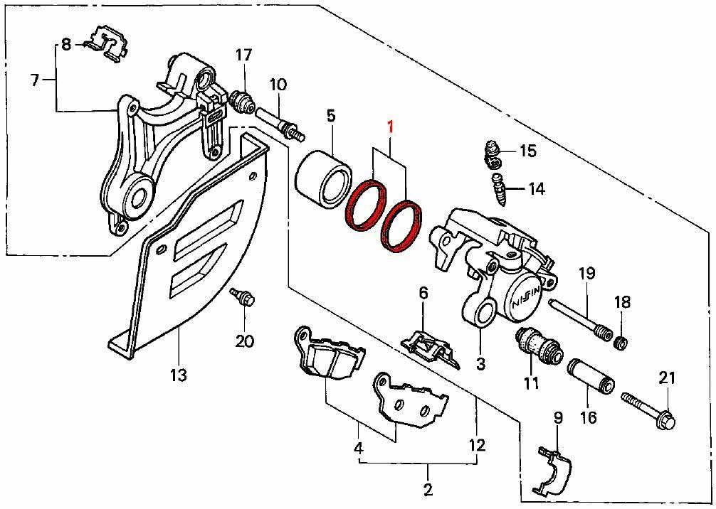 brake caliper rear piston seal kit  04  07  07a  1988