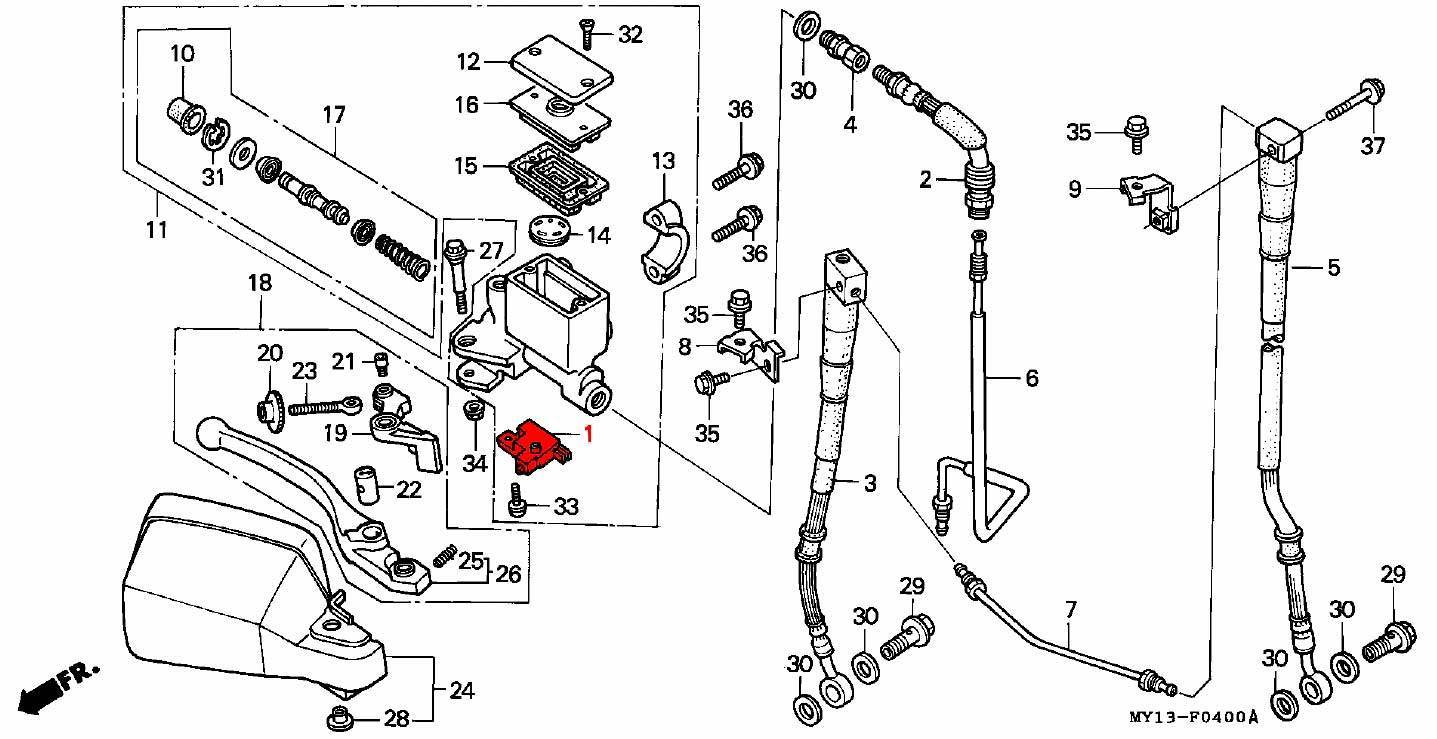 brake lever switch front - rd03  04  07  07a  1988