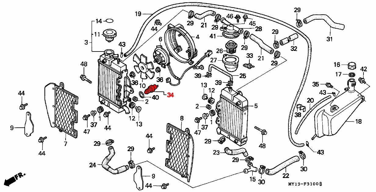 radiator fan switch unit - rd07a  1996 - 03