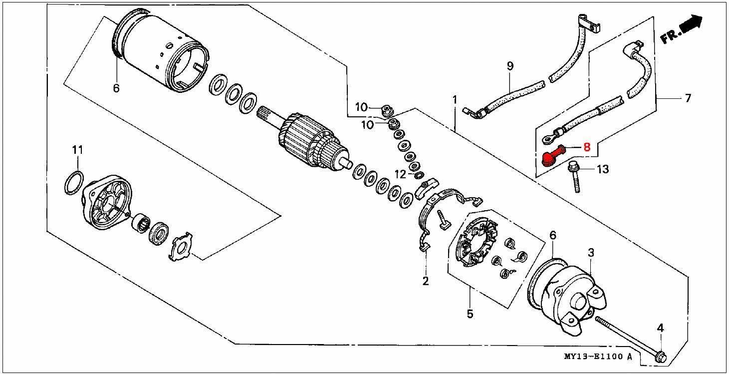 oem honda rubber cover  starter motor terminal  04