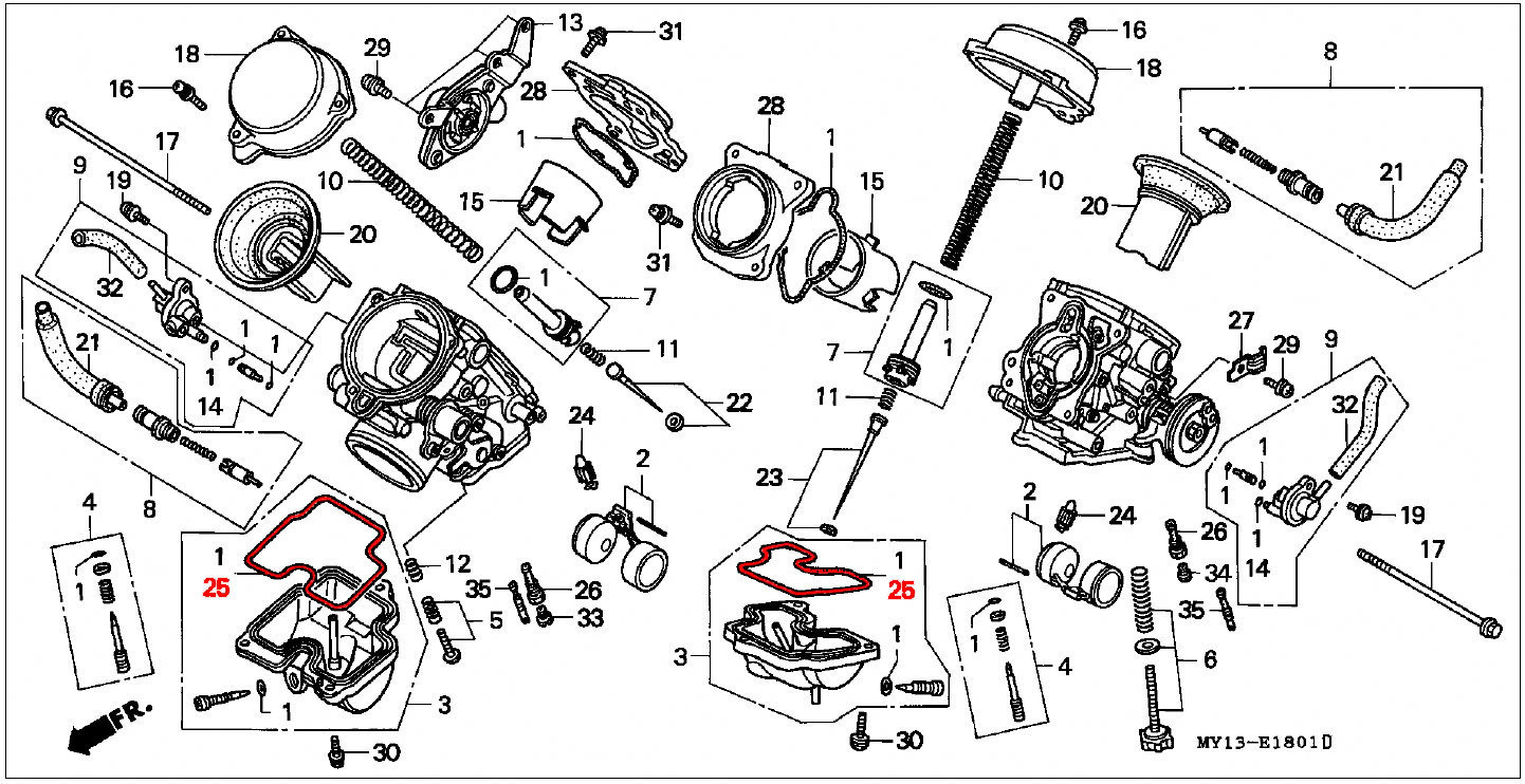 Float Carburetor Diagram Free Wiring For You Pin 5 Hp Tecumseh Linkage On Pinterest Oem Honda Carb Bowl Gasket Rd07 07a 1993 03 Revtech 100