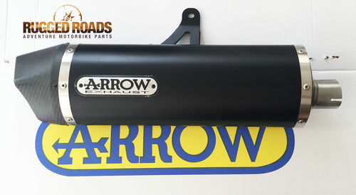 Arrow Maxi Race-Tech Aluminium 'DARK' Silencer with Carbon End Cap