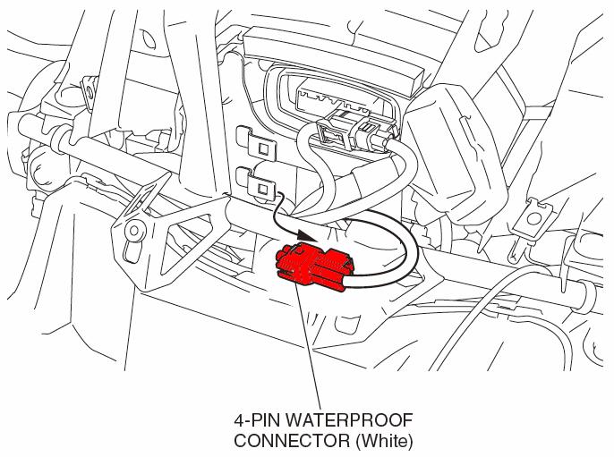 4 way oem waterproof connector