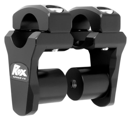 "Rox Risers - Pivoting 1.3/4"" Rise for 28mm handlebars (Fatbars) - BLACK"