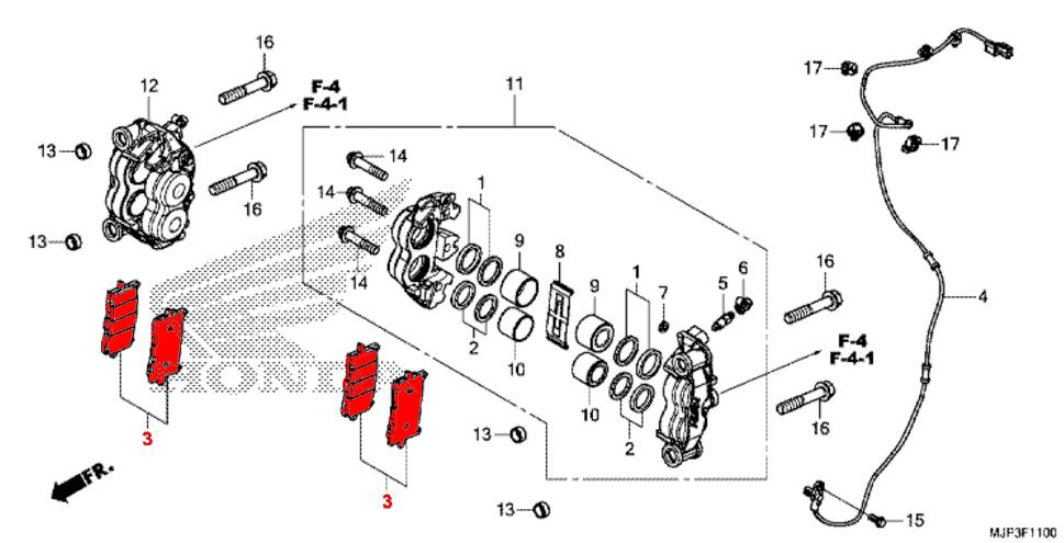 ... OEM Honda Front Brake Pads   CRF1000 (2016/2017)
