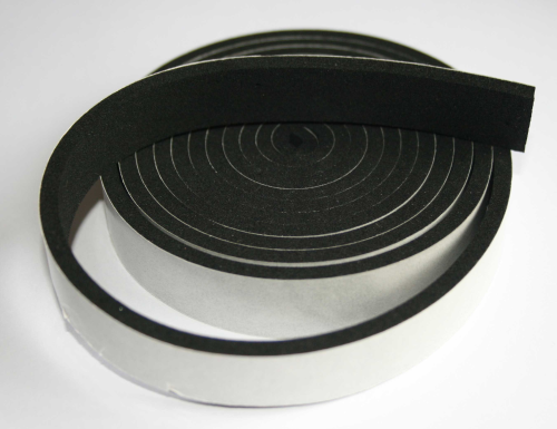 Black Closed Cell Self Adhesive Neoprene Foam Tape x 2M