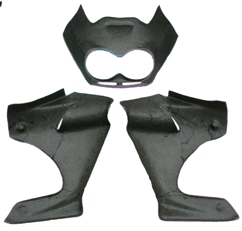 Replacement Fairing - 3 pce as per original - Kevlar Carbon RD07 / RD07A
