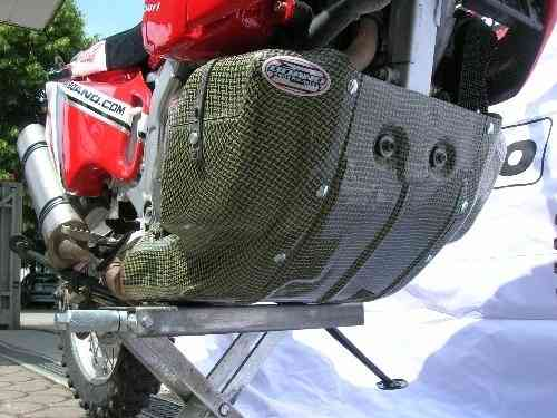 Bashplate with Toolbox Left Hand Section in kevlar carbon
