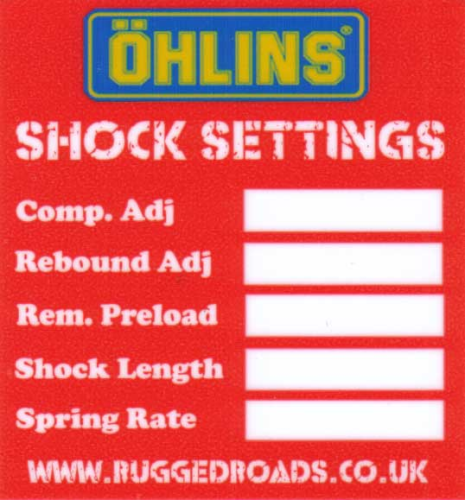 Ohlins Shock Settings