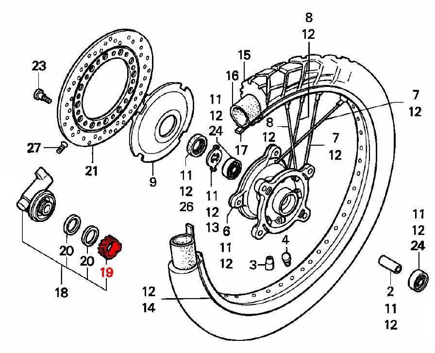 oem honda speedometer gear wheel  07  07a  1990