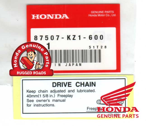 OEM Honda Decal - Drive Chain