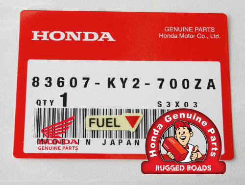 OEM Honda Decal - Fuel Tap