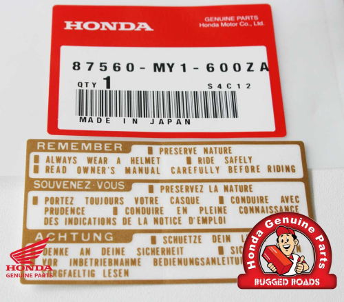 OEM Honda Decal - Drive Caution