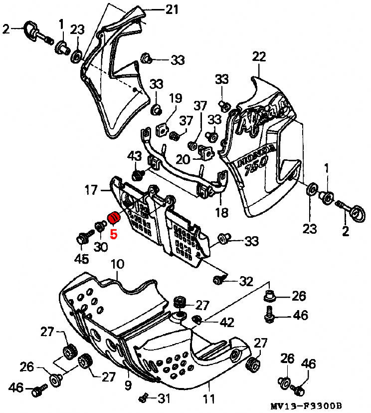 oem honda rubber mounting - rd03  04  1988