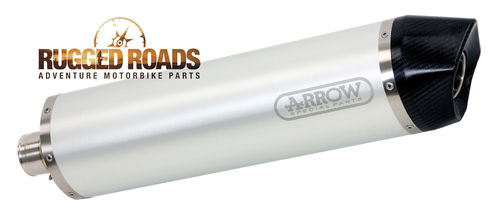 Arrow Maxi Race-Tech Aluminium Silencer with Carbon End Cap