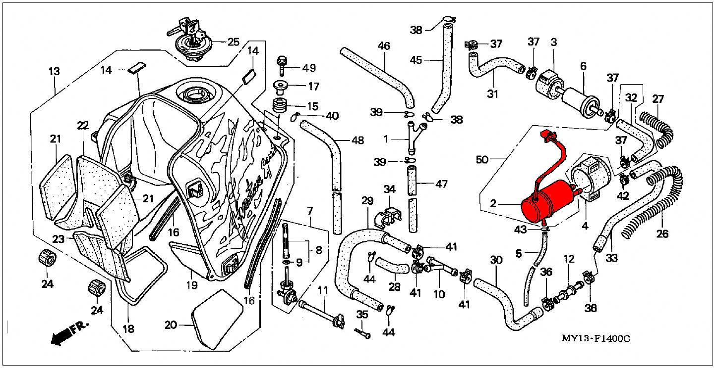 oem honda fuel pump - rd04  07  07a  1990