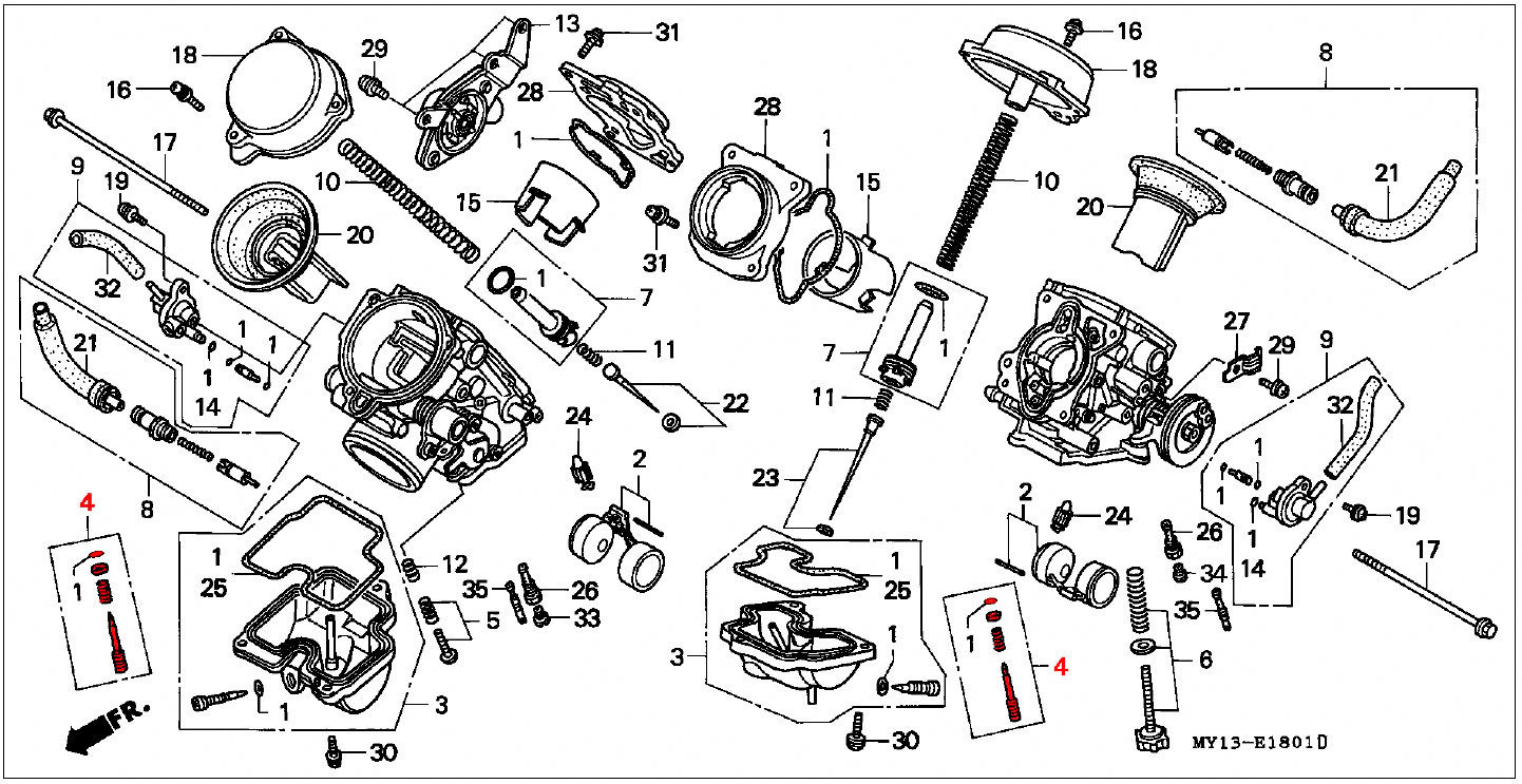 oem honda pilot screw set - rd07a  1996