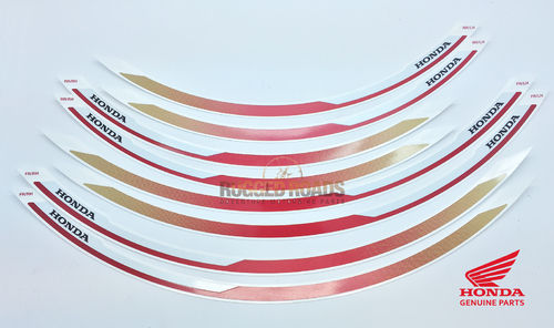 OEM Honda Wheel Stripe Set Tri-Colour (R305C) - CRF1000 (2016 onwards)