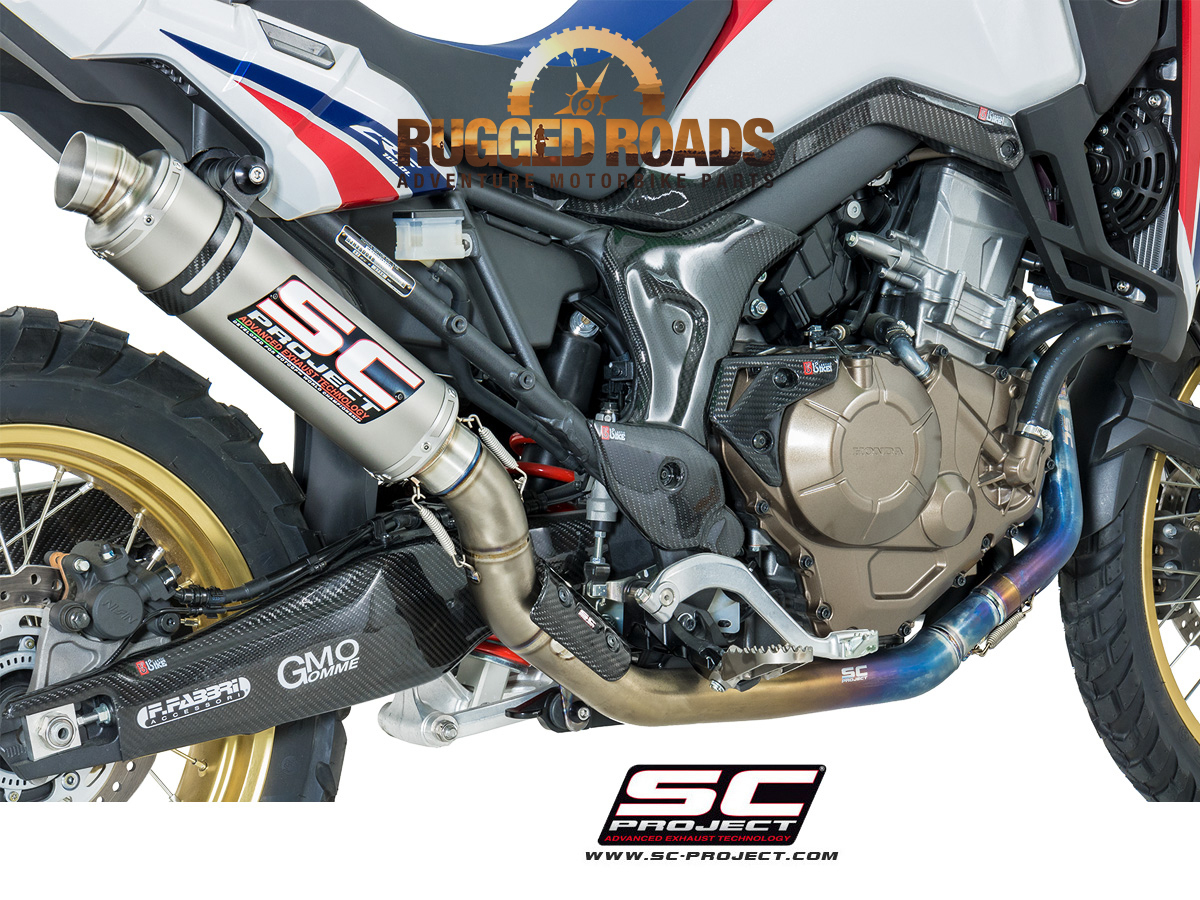 Sc Projects Full Titanium Exhaust System Gp Silencer Crf1000