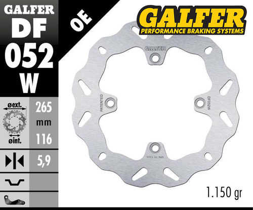 Galfer Rear Brake Disc - CRF1000/CRF1100 (all models)