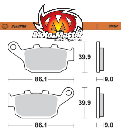 Moto-Master RoadPRO Sintered Rear Brake Pads – CRF1000/CRF1100