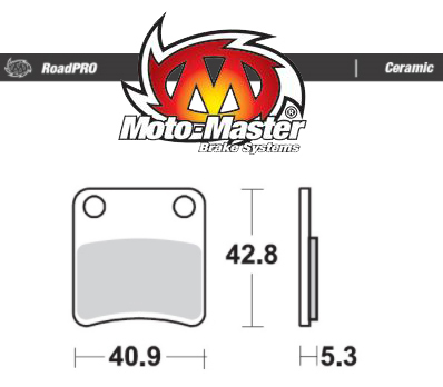 Moto-Master Ceramic Rear Parking Brake Pads – DCT CRF1000/CRF1100