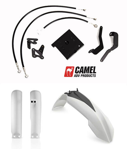 Camel ADV High Fender Kit - CRF1000 Africa Twin and Adventure Sport (2016>) including plastics