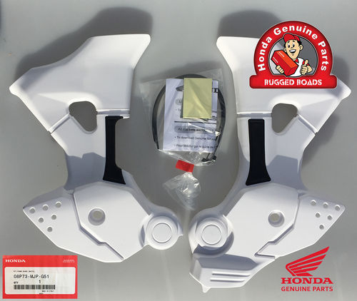 OEM Honda Frame Guards WHITE - CRF1000 & CRF1000 Adventure Sport (2016>)