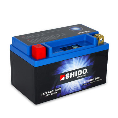 Shido OEM replacement Lithium Battery with LED indicator - XRV750 RD07/07A (1996-03)