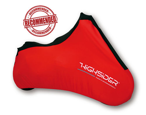 Premium Indoor Spandex Motorcycle Cover - RED XL