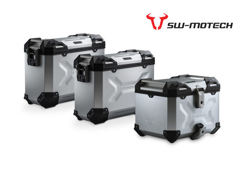 SW Motech TRAX Adventure set luggage. Silver for Honda CRF1000 Adventure Sport (2018>)