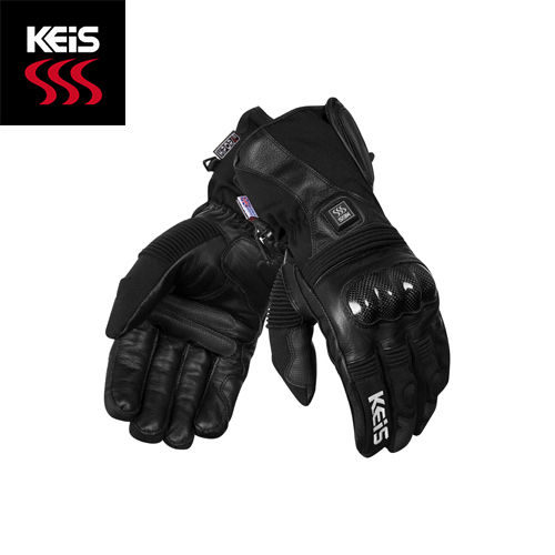 Keis G501 Premium Heated Armoured Gloves (Dual Power)