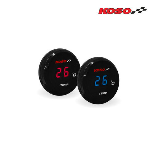 Koso Coin Temperature Gauge - Blue or Red