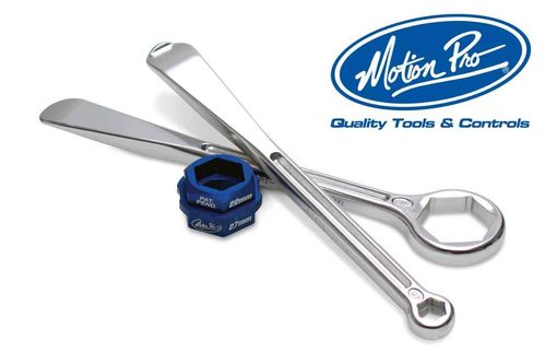 Motion Pro T-6 Combo Tyre Lever Set (32/12/10 mm wrench with 27/22mm Adapters)