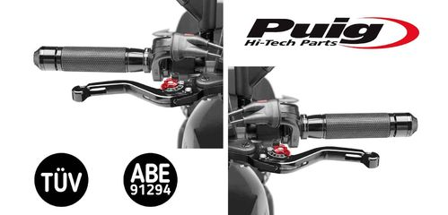 Puig Short Lever Set Red - Tenere 700