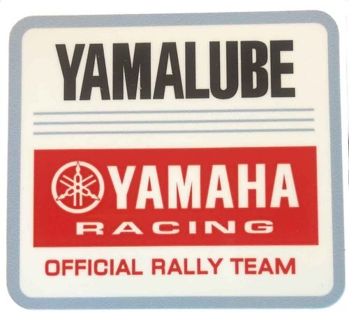 Yamalube Rally Team Decal - Red