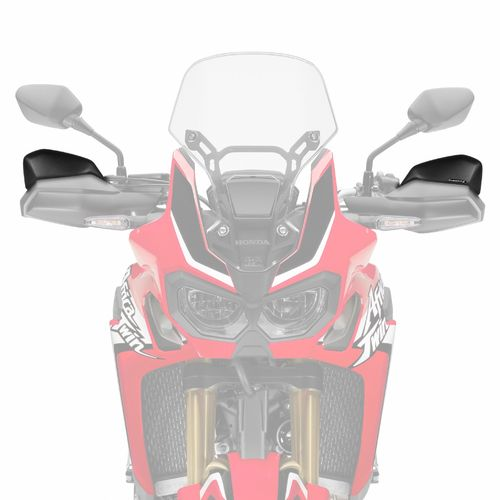 Handguard Extensions - Black - Honda CRF1000 all models (2016-19)