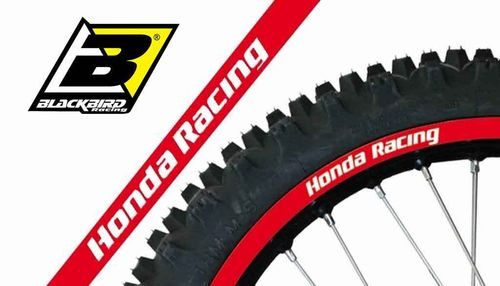 Blackbird Racing - Honda Rim Decals - Red