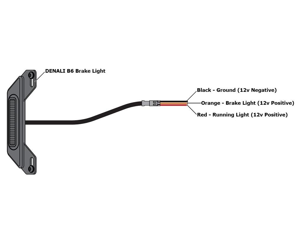 Denali B6 Led Brake  Tail Light Kit With License Plate Mount New